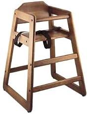 "Browne 80976 27.25"" Stackable High Chair w/Waist Strap - Wood, Walnut"