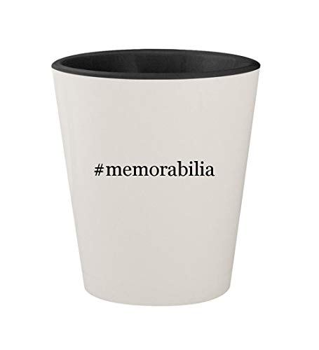 #memorabilia - Ceramic Hashtag White Outer & Black Inner 1.5oz Shot Glass