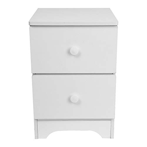 FimKaul White Nightstand with 2 Drawers - Bedside Furniture & Accent End Table Chest for Home, Bedroom Accessories, Office, College Dorm (Sets Bedroom Of Furniture Cheap)