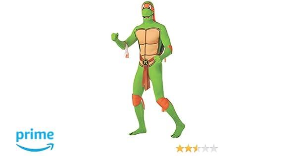 Rubies s Oficial Michelangelo 2 nd Skin, de Las Tortugas Ninja Adolescentes Adulto Disfraz – Grande