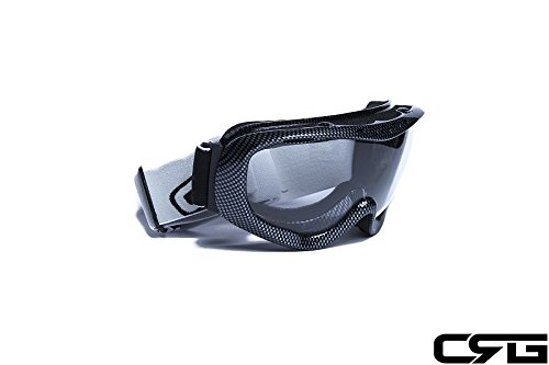 CRG Motocross ATV Dirt Bike Off Road Racing Goggles Adult T815-37 (Clear) by CRG Sports (Image #1)