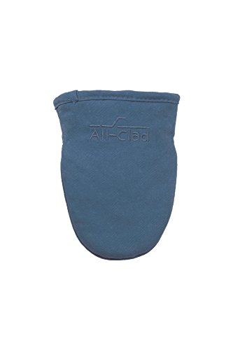 All-Clad Textiles Steam Resistant Heavyweight Cotton Twill Grabber Oven Mitt with Non-Slip Silicone Grip, Cornflower Blue