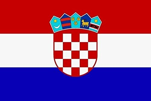 U24 Fahne Flagge Kroatien Bootsflagge Premiumqualität 20 x 30 cm
