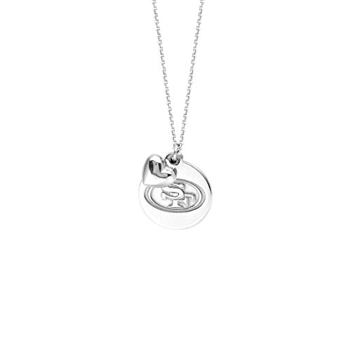 (Licensed NFL San Francisco 49ers Necklace Team Logo Pendant with Heart Charm)