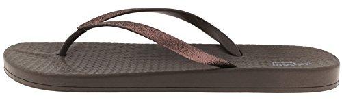Capelli New York Damesmode Slippers Met Glitter Faux Leder Brons