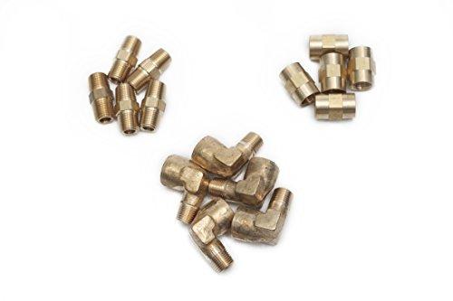 Forged 90 Deg Elbow - LTWFITTING Value Pack Brass 1/8