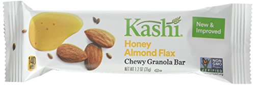 Kashi Chewy Granola Bars, Honey Almond Flax, Non-GMO Project Verified, 7.4 oz (6 Count)(Pack of ()