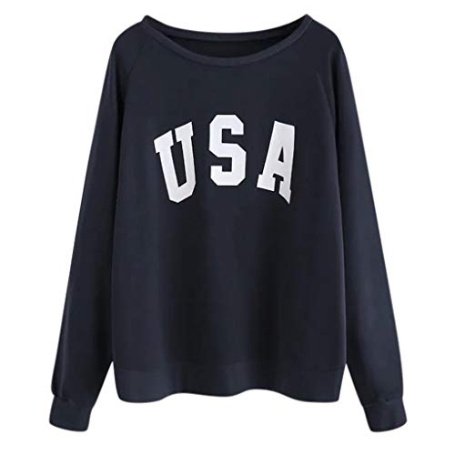 Batman Shoes Vans (〓COOlCCI〓Women USA Letter Printed Graphic Cute Sweaters Funny Pullover Teen Girls Sweatshirts Pullover Tops Blouse Shirts)