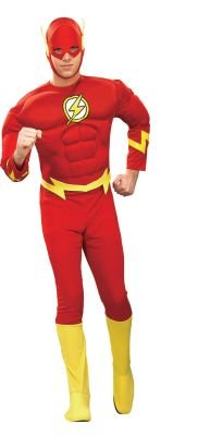 Deluxe The Flash Muscle Chest Costume - Medium - Chest Size 42