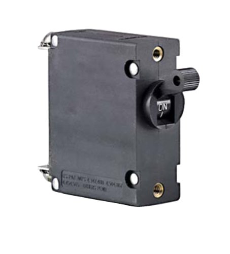 Ancor 551525 Marine Grade Electrical Magnetic Single Pole AC/DC Circuit Breaker (25-Amp, Black)