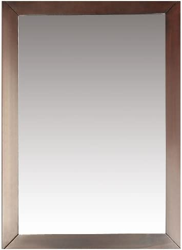 Simpli Home Burnaby 22 inch x 30 inch Bath Vanity D cor Mirror in Dark Walnut Brown