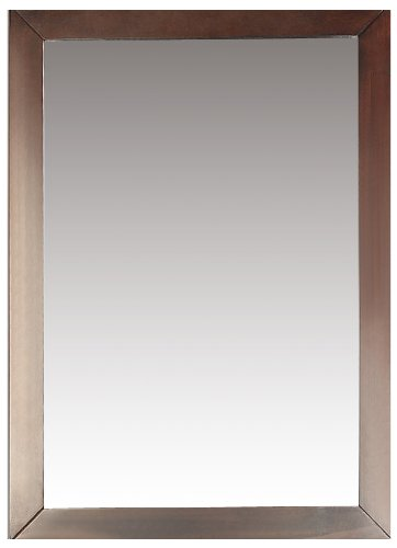 Vanity Mirror Mahogany (Simpli Home NL-DAVENPORT-M-3A Burnaby 22 inch x 30 inch Bath Vanity Décor mirror in Dark Walnut Brown)