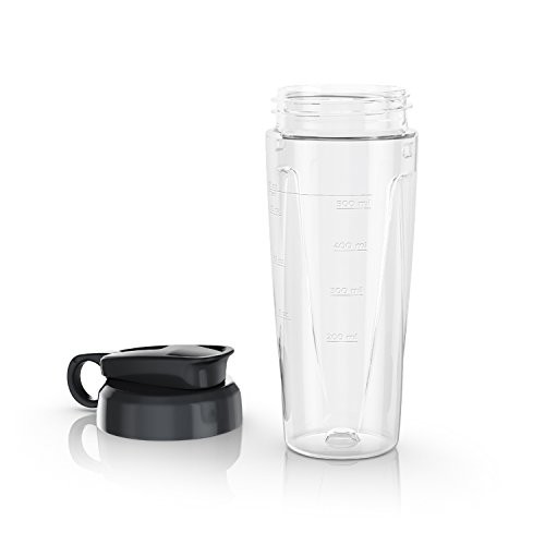 (BLACK+DECKER PowerCrush Personal Blender Jar with Travel Lid, Clear, PBJ1650)
