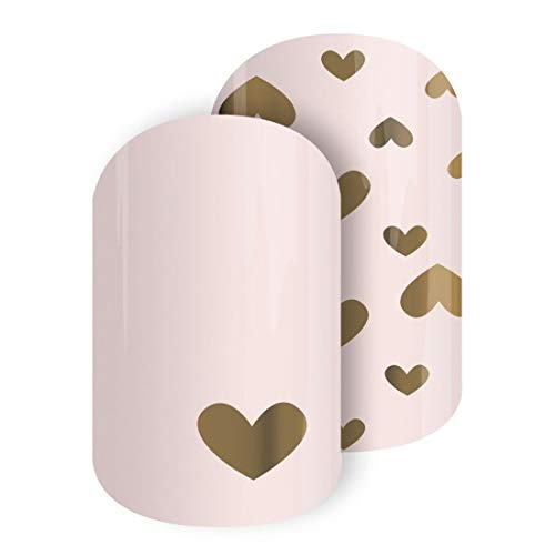 Jamberry by M. Network Doting Dreams Valentines Day Nail Wraps Half Sheet from Jamberry