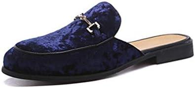 メンズ シューズ スリッポン かかとなし ローファー ラウンドトゥ ローヒール スリッパ 大きいサイズ 靴 ベロア調 ビジネススリッパ 柔らか ソフト サンダル オフィス カジュアル サボ 高級感 革靴 通気 外履き