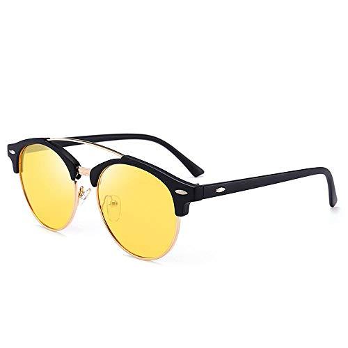 Polarized Sunglasses Men's European and American Fashion Glasses Retro Round Frame Driving Sunglasses (Color 2 Pack) (Cat Eye Wayfarer Sonnenbrille)