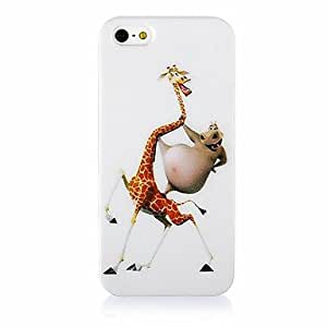 ZXM-Jirafa y Hippo caso del patrón de silicona suave para iPhone4/4S