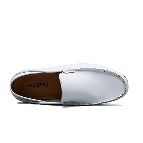 Meimei del Mens 42 del Mocassins de Moda Planos Hombre Color tamaño talón Blanco EU Zapatos shoes la del para holgazán del del resbalón Ocio pZrpx6qBw