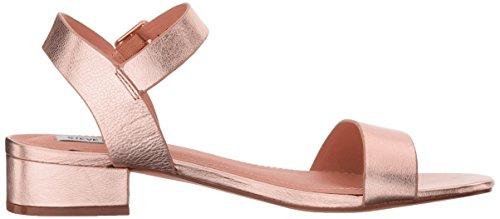 Steve Madden Womens Cache Flat Sandal Rose Gold