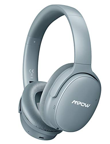Mpow H10 Dual-Mic Noise Cancelling Bluetooth Headphones, [2019 Edition] ANC Over-Ear Wireless Headphones with CVC 6.0 Microphone, Hi-Fi Deep Bass, 30Hrs Playtime for TV/PC/Phone/Travel/Work