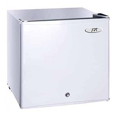 SPT UF-114W Upright Freezer, White , 1.1 Cubic Feet