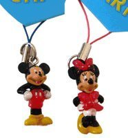 (Disney's Mickey and Minnie Mouse Phone Charms Dangles)