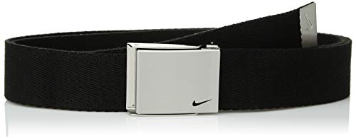 Nike Boys' Big Single Web Belt, black, One Size (Kids Belts)