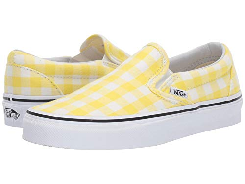 Vans Unisex Classic Slip-On¿ (Gingham) Blazing Yellow/True White 6 Women / 4.5 Men M US]()