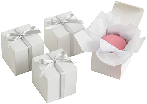 "Simplicity White Wedding Favor Box Kit, 100pc, 2""L x 2""W x 2""H"