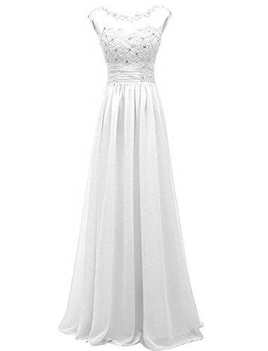 Weiß Elegant Etuikleider La Festlichkleider Partykleider Braut Ballkleider Abendkleider Promkleider mia Weiss Cwtqvt