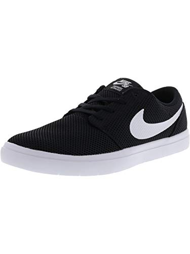 Nike Casual Sneakers - Nike Men's Sb Portmore Ii Ultralight Black/White Ankle-High Skateboarding Shoe - 11M