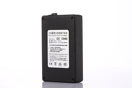 ABENIC Fireproof DC 12V 6800mAh Super Rechargeable Protable Li-ion Lithium Battery DC12680 Black