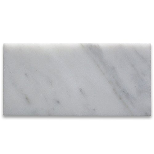 Carrara White Italian Carrera Marble Subway Tile 3 x 6 Polished -