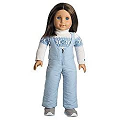 Chrissa stays warm through Minnesota's cold winter in this outfit:      A turtleneck sweater with a frosty Fair Isle pattern     Cozy zip-front snow pants for warmth in the snow     A pair of snow boots to keep her toasty while she plays Doll...