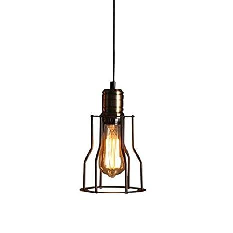 Forma de estilo retro negro jaula lámpara E27 Loft lámpara ...