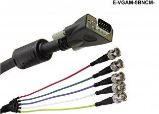 Amazon.com: LIBERTY WIRE and CABLE E-VGAM-5BNCF-3: Computers ...