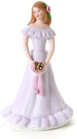 Enesco Growing Up Girls Birthday Brunette Age 6 #E9530 NIB FREE SHIP 48 STATES