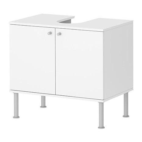 Ikea FULLEN Mobile base per lavabo con 2 ante, bianco (60x55 cm ...