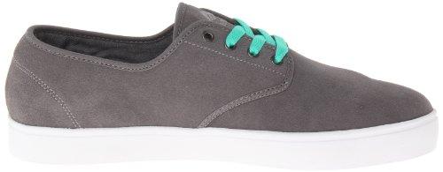 Emerica LACED BY LEO ROMERO 6102000082 - Zapatillas de cuero para hombre Gris (Dark Grey)