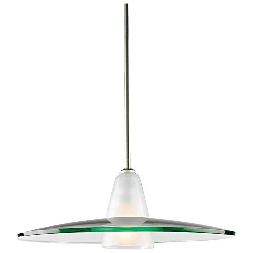 Contemporary Brushed Nickel 1 Light Pendant in US - 8