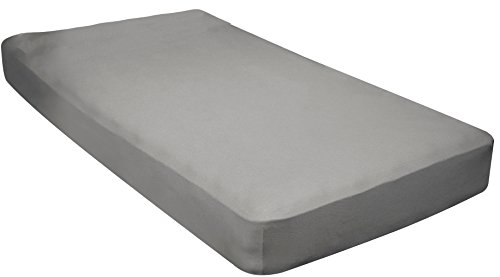 Gilbin 100% Jersey Knit Cotton Fitted Cot Sheet For Camp Cot Mattresses 30' x 75' (Grey)