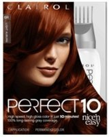 Clairol Nice 'N Easy Perfect 10 Permanent Haircolor Light Auburn #6R by Clairol by Clairol