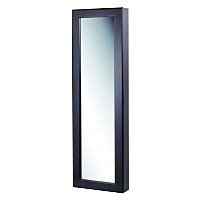 Homepointe Wall Mounted Mirror Jewelry Armoire