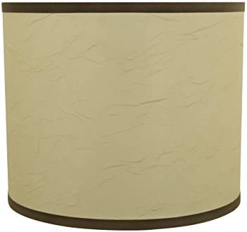 Aspen Creative 31098 Drum Cylinder Shaped Spider Construction Lamp Shade, 12 x 12 x 10 , Beige