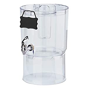 Buddeez Party Top New Beverage Dispenser, 1.75 gallon, Clear