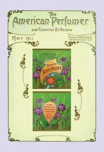 - American Pefumer and Essential Oil Review: Recreo Violet Talcum Powder Paper poster printed on 12 x 18 stock.