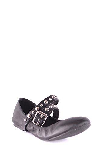 Steve MCBI283025O Madden Leather Black Women's Flats r4fBSr