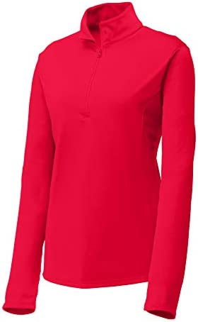 CLOTHE CO. WOMENS LIGHTWEIGHT ATHLETIC PERFORMANCE 1/4-ZIP PULLOVER