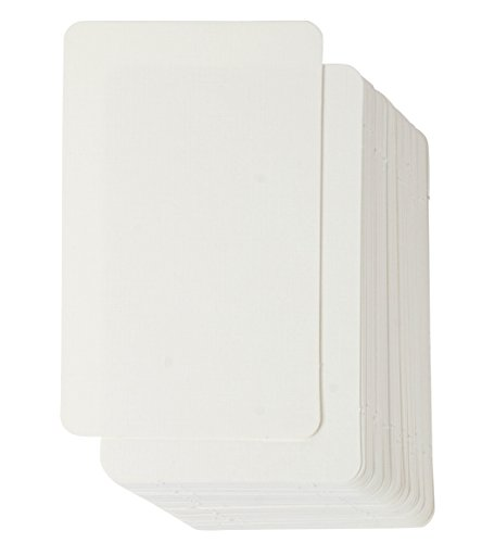 Artist Blank - Blank Flash Cards - 100-Count Blank Paper for Business Cards Message Cards, DIY Gift Cards, Index Cards, Ivory, 4 x 2.5 Inches