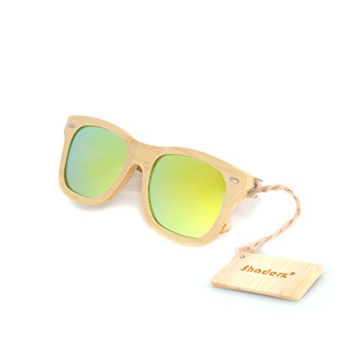 f293bff78c1a3 Bamboo Polarized Sunglasses Natural Floating product image
